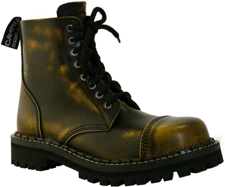0f71d0c0147 8 dírkové boty CAMPILOT Yellow Black   Campilot.cz - Kvalitní těžké ...