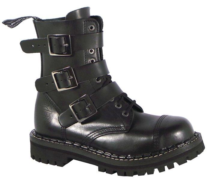 7f88082b48f 10 dírkové boty CAMPILOT Black 3 přezky