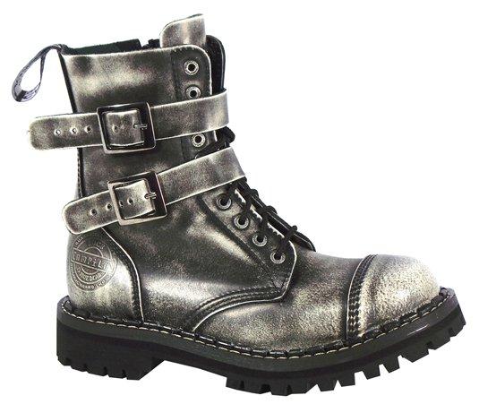 10 dírkové boty CAMPILOT White 2 přezky a9fa3bc319