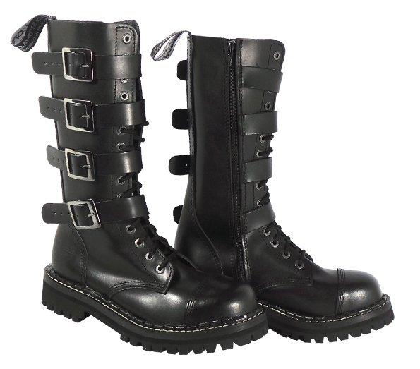 2839c367ccc 15 dírkové boty CAMPILOT Black 4 přezky