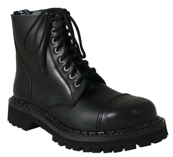 17c8e2109f4 8 dírkové boty CAMPILOT Black   Campilot.cz - Kvalitní těžké boty s ...