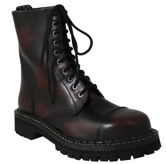 10 dírkové boty CAMPILOT Bordó Black   Campilot.cz - Kvalitní těžké ... 025af466f9