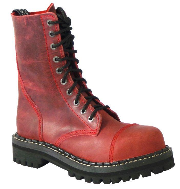 51b346216b1 10 dírkové boty CAMPILOT Crazy Red   Campilot.cz - Kvalitní těžké ...