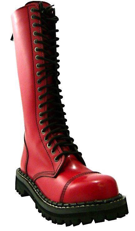 20 dírkové boty CAMPILOT Full Red   Campilot.cz - Kvalitní těžké ... 8a2adea3d9