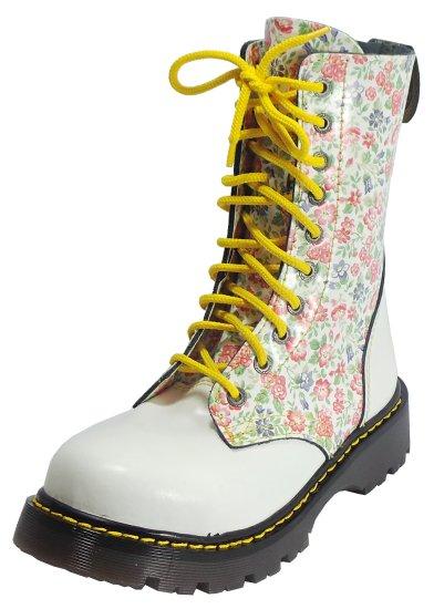 10 dírkové boty CAMPILOT Flowers White   Campilot.cz - Kvalitní ... d0f8987c67