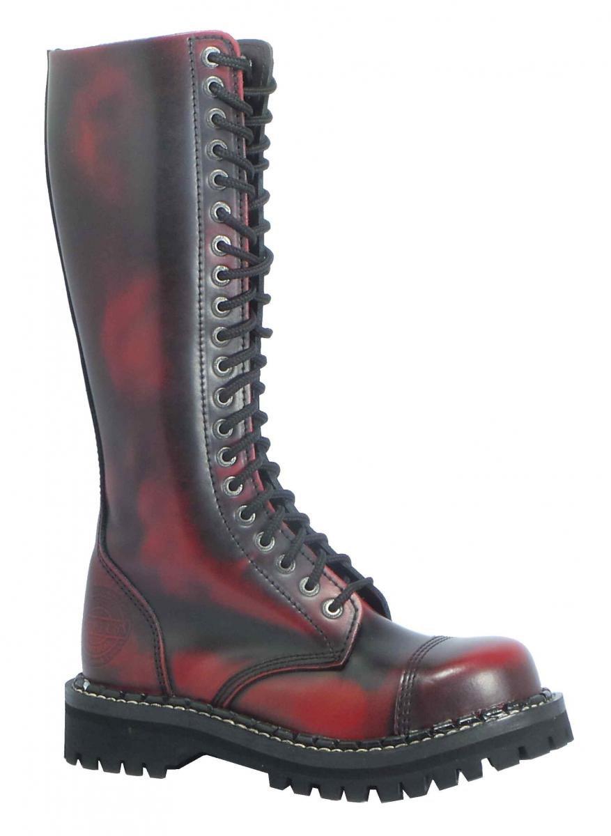 20 dírkové boty CAMPILOT Red Black   Campilot.cz - Kvalitní těžké ... 64659fdba9