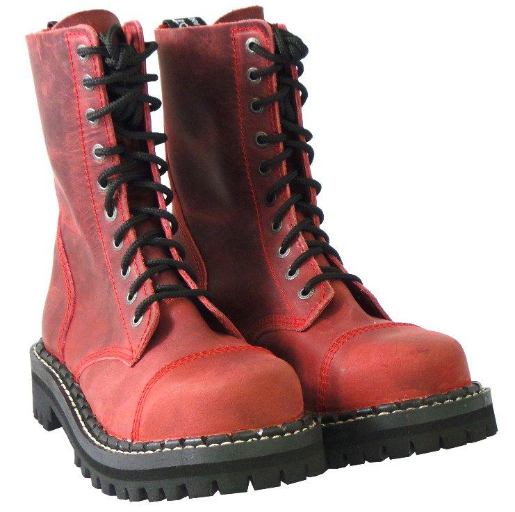 10 dírkové boty CAMPILOT Crazy Red   Campilot.cz - Kvalitní těžké ... 4079c23853