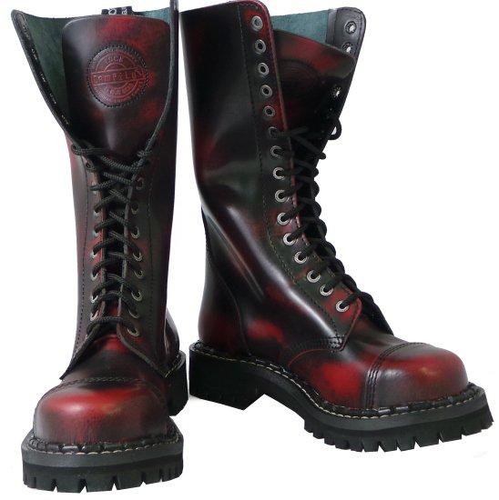 15 dírkové boty CAMPILOT Red Black   Campilot.cz - Kvalitní těžké ... 5d3e0cb355